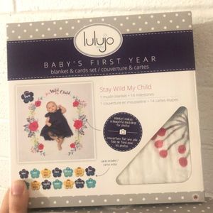 Lulujo baby's first year blanket